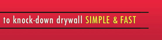 The easy way to make repairs to knock-down drywall Simple & Fast